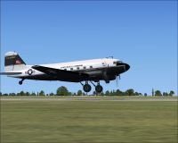 Army Missile Command Douglas C-47 taking off.