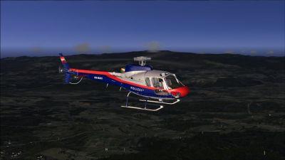 Austrian Police Aerospatiale AS350 Ecureuil in flight.