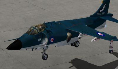 BAe Sea Harrier FRS1 hovering.