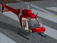 Bell 206 on the ground.