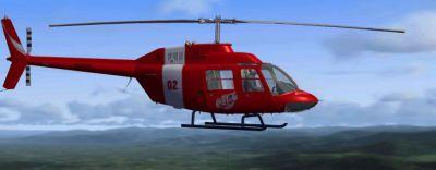 Bell 206 in flight.