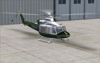 Helitack Bell 412EP on the ground.