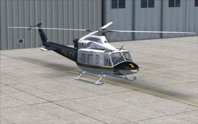 Pollice Bell 412EP on the ground.