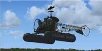 Bell 47 on floats, in flight.