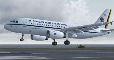 Brazilian Air Force Airbus A319-133X CJ taking off.