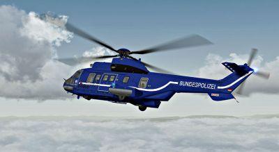 Bundespolizei AS 332 L2 in flight.
