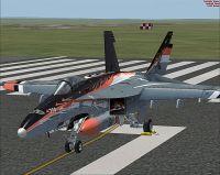 Canadian Air Force/RCAF CF-18 on runway.