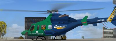CareForce Bell 430 on the ground.