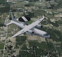 CASA C-295AEW in flight.