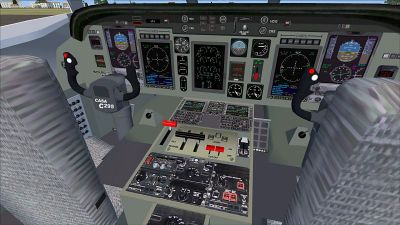 Virtual cockpit of CASA C-295M.