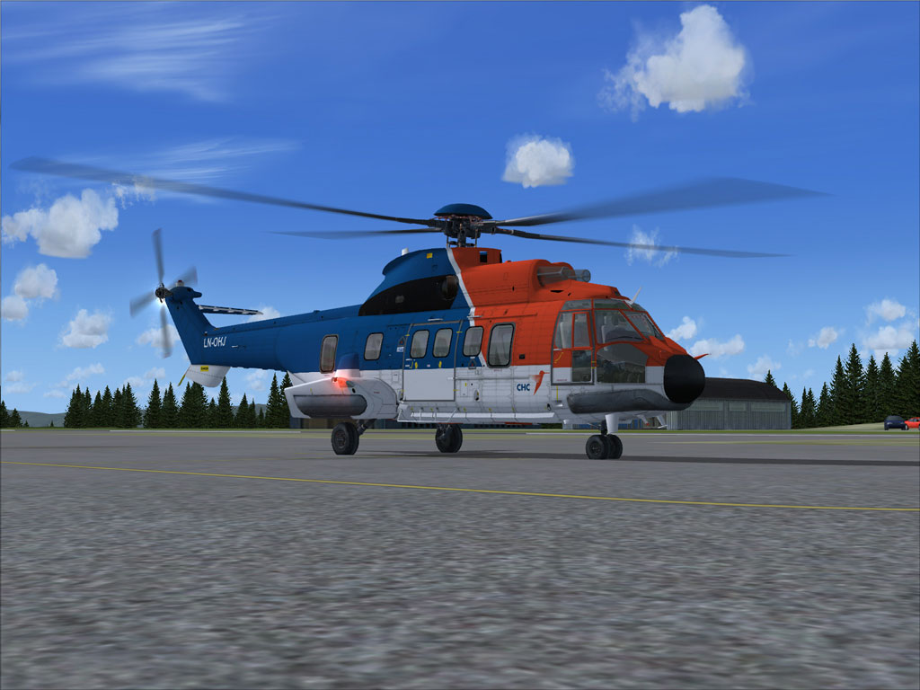 Chc helikopter service as322l2 on the ground