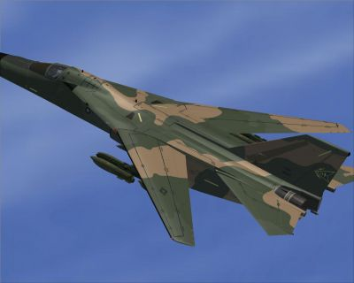 Combat Lancer V2 F-111 in flight.
