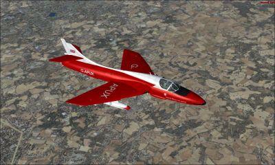 Demonstrator Hawker Hunter in flight.