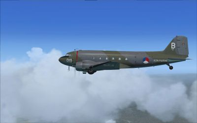 Douglas C-47 (Dutch) MLD Biak 1960 in flight.