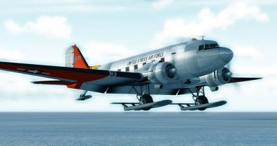 Douglas C-47 Skytrain On Skis.