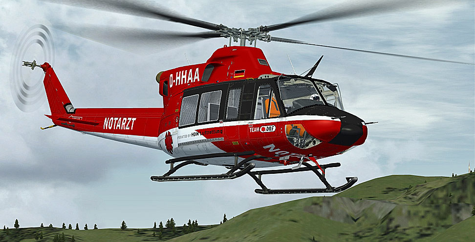 drf luftrettung bell 412 for fsx