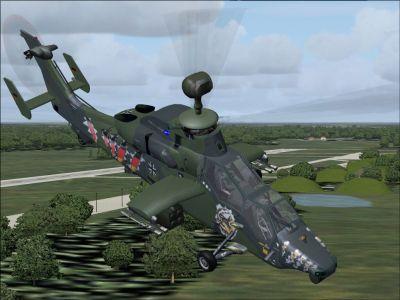 EC-505 Tiger UHT in flight.