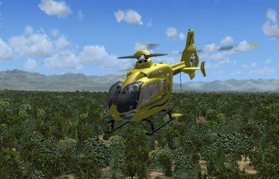 Eurocopter EC-135 in flight.