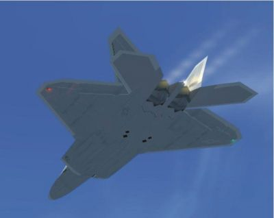 F-22A Raptor in flight.