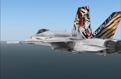 F/A-18C HaniMod in flight.