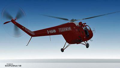"""""""Feuerwehr-Flugdienst"""" Bristol Sycamore in flight."""