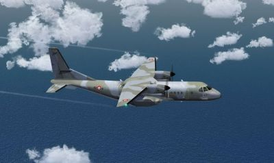 French Air Force Casa 295M Camo in flight.