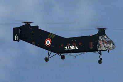 French Navy H-21C in flight.