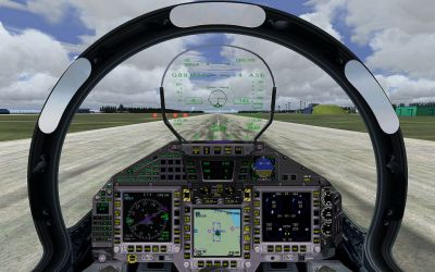 Virtual cockpit of German Air Force Eurofighter.