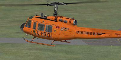 German Luftrettung Bell UH-1D in flight.