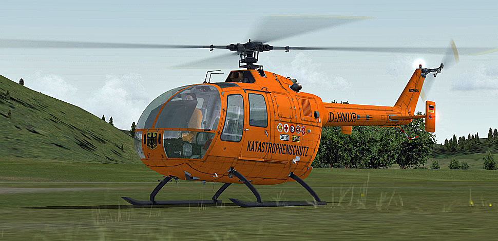 german luftrettung bo 105 for fsx B0 105 Helicopter Augusta 109