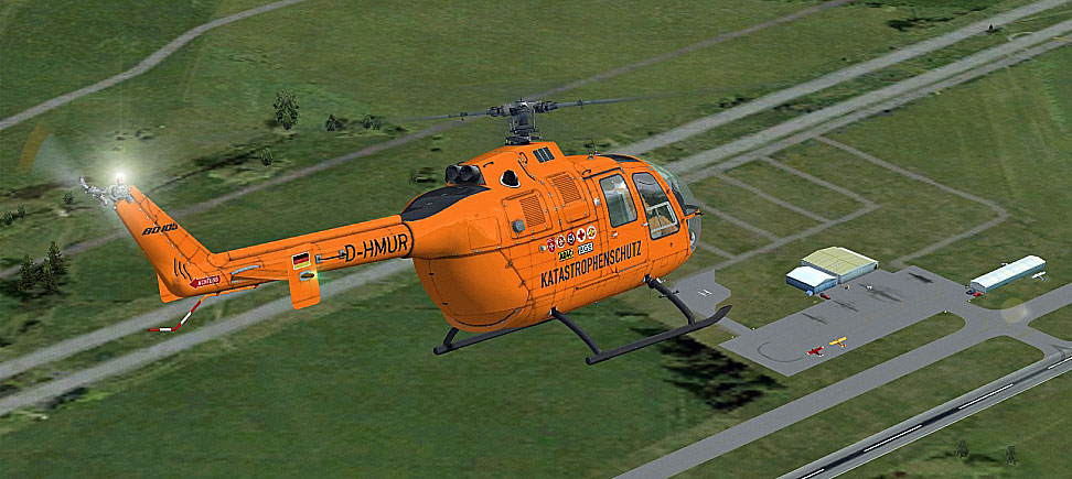 german luftrettung bo 105 for fsx Augusta 109 MBB 105 Helicopter