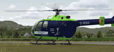 Great Western Air Ambulance Bo 105 on the ground.