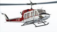"""""""Gronlandsfly"""" Bell 212 in flight."""