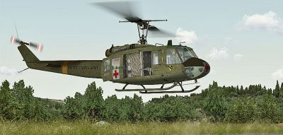 Huey Dust Off Bell UH-1H.