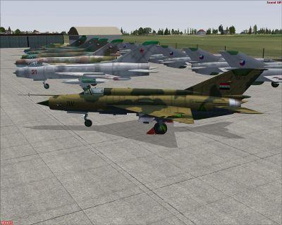Iraqi Air Force MiG-21MF.