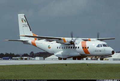 Photograph of Irish Air Corps Casa 295 #250 on runway.