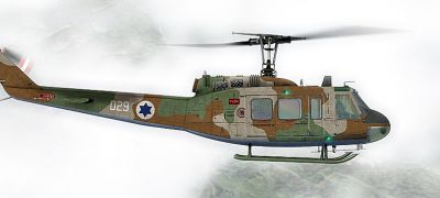 Israeli Air Force Bell UH-1H in flight.