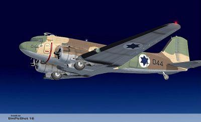Israeli Air Force Douglas C-47 in flight.
