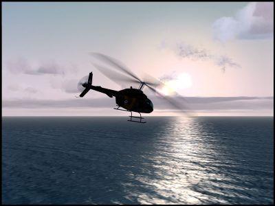 Israeli Default Bell 206 in flight.
