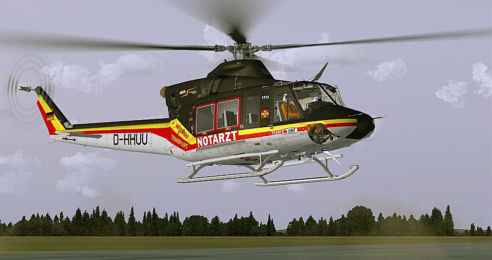 ITH-Luftrettung Bell 412 in flight.