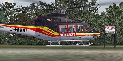 ITH-Luftrettung Bell 412 on the ground.