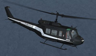 Law Enforcement Aviation Coalition Bell UH-1H in flight.