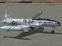 Lockheed T-33A T-Bird Jet Training Aircraft.
