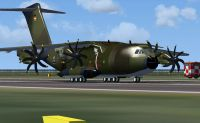 Luftwaffe Airbus A400 on runway.