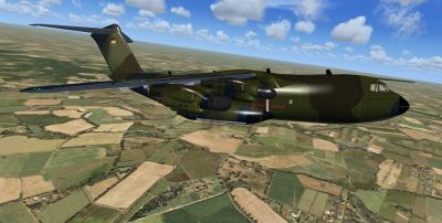 Luftwaffe Airbus A400 in flight.