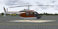 Marines Bell 206 FX Helicopter on the ground.