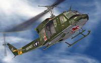 Marines Medivac Bell 212 in flight.