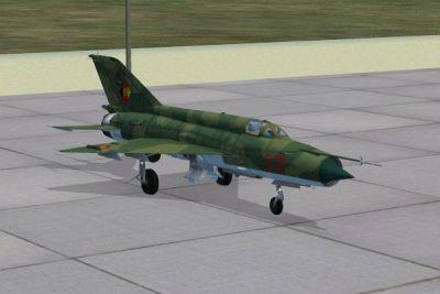 """MiG-21MF """"Luftstreitkraefte der NVA""""."""
