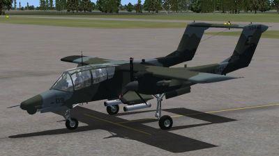 North American Rockwell OV-10D Bronco.