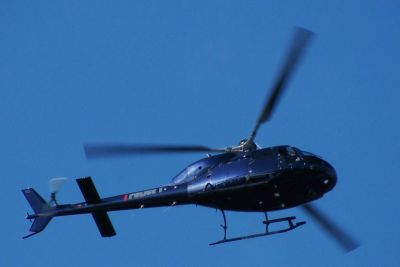 Photograph of NZ Police EagleHelicopter in flight.